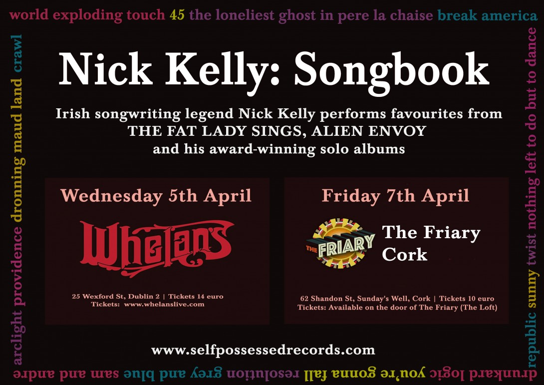 New Songbook Dates - April 2017