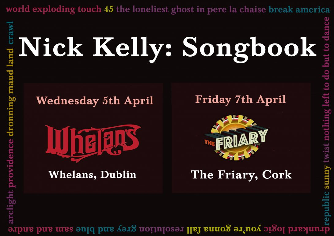 New Songbook Dates Announced April 2017